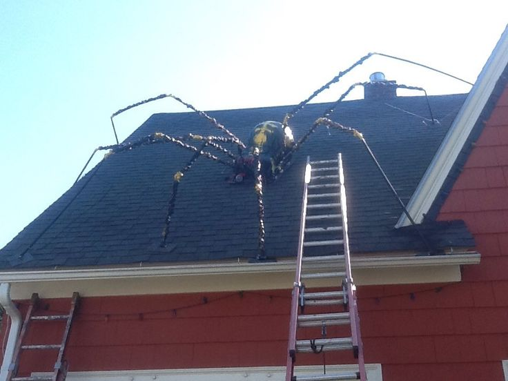 giant spider with webified victim - Giant Spider Halloween Decoration