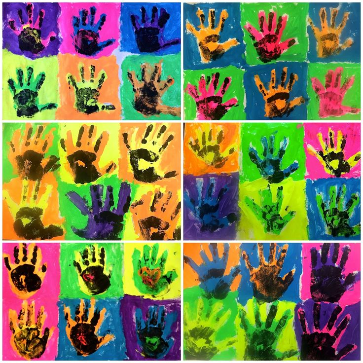 Kindergarten Andy Warhol Pop Art Hands