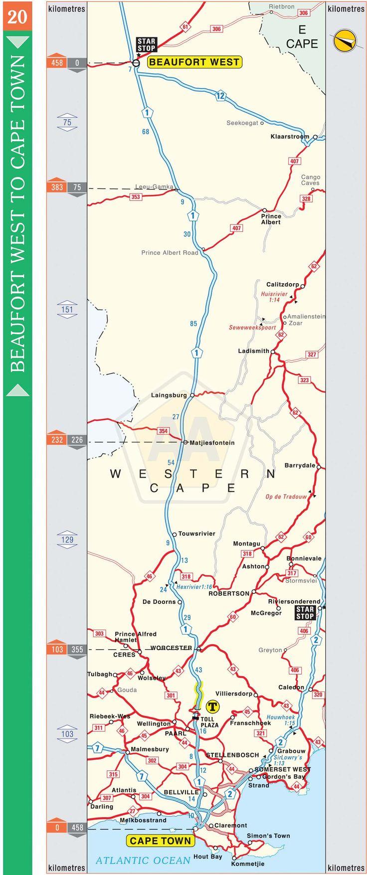 Beaufort West to Cape Town | Automobile Association
