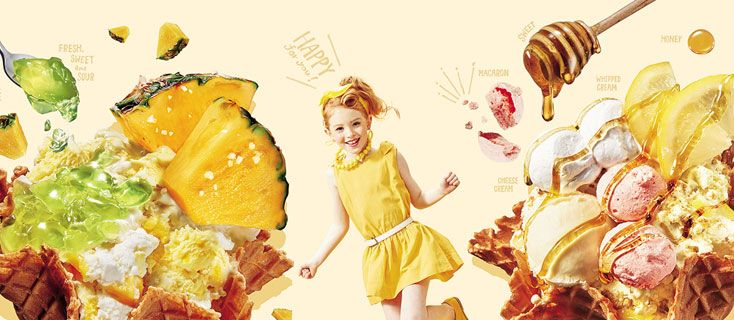 Adelaide for Coldstone Creamery Ice Cream Menu|コールドストーンクリーマリージャパン Cold Stone Creamery Japan