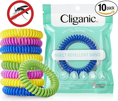 #Cliganic Natural Mosquito Repellent Bracelets, 10 Individual Packs A natural solution to keep insects away. DEET Free and Kid Safe! Creates an invisible shield ...