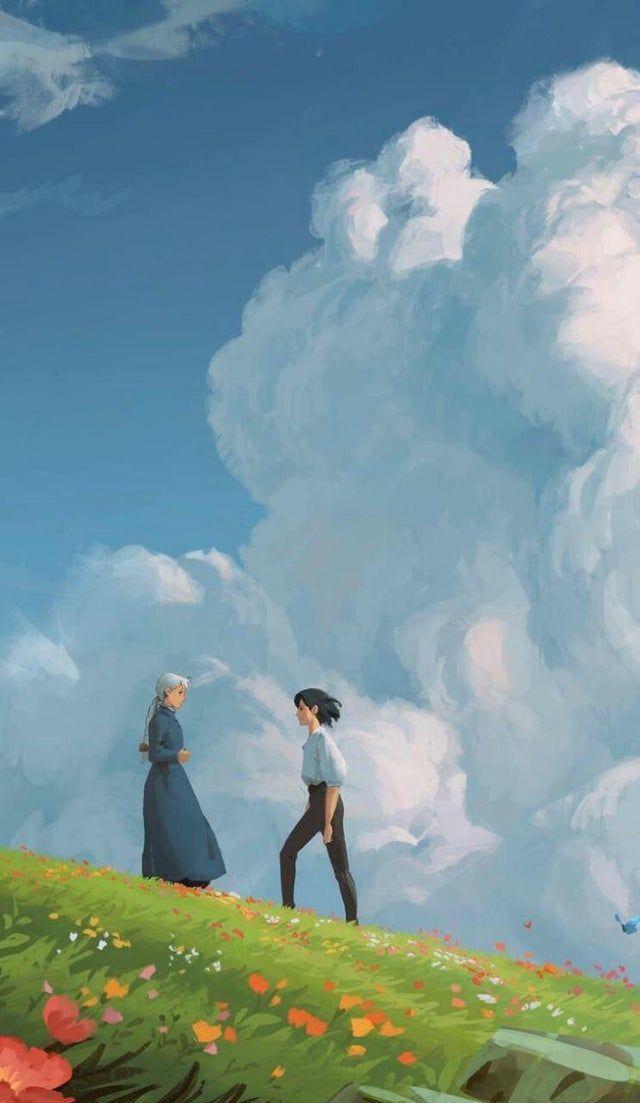 Howls Moving Castle Art Ghibli In 2021 Studio Ghibli Background Howls Moving Castle Art Ghibli Artwork Howl moving castle wallpaper iphone
