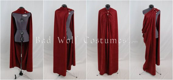 Versatile Fantasy Cape with Sword Buttons  Four by BadWolfCostumes, $135.00