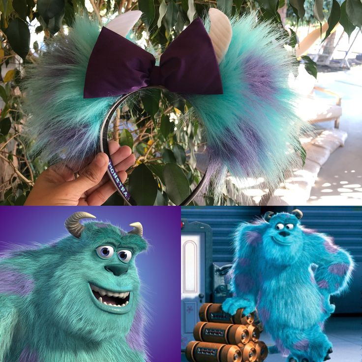 Sulley Ears from Monsters Inc. Inspired by the famous Minnie Ears Disneyland. I had so much fun making them. By. Monstra