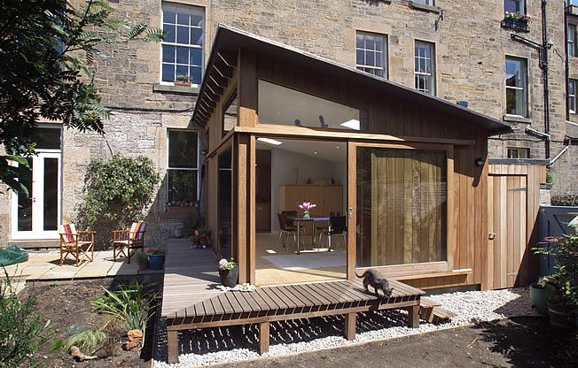 Garden room extension - pitched roof