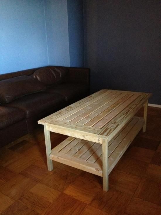 Wooden pallet coffee table plans woodworking projects plans malvernweather Choice Image