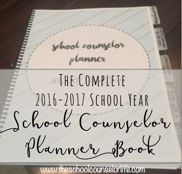 School counselor planner mint and gold