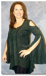 Woodland Nymph Blouse - Only 1 Left Each Color! - pagan wiccan witchcraft magick ritual supplies