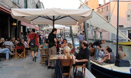 Al Timon, Venice - lively canal-side bar where you can sit on a boat outside and eat cicchetti