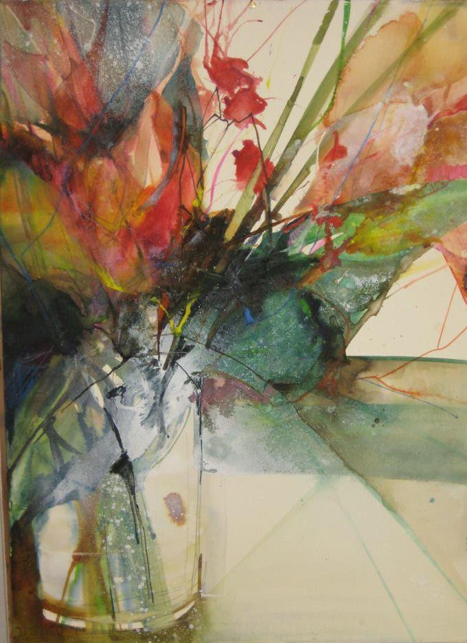 Elke memmler found on elke art pinterest for Abstract watercolour flowers