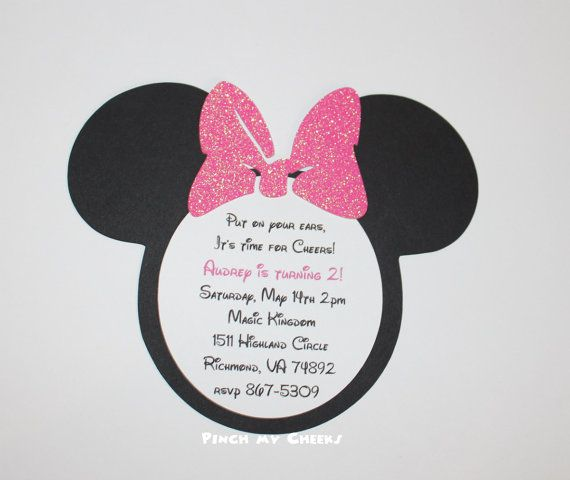 Invitations Minnie Mouse as luxury invitation example