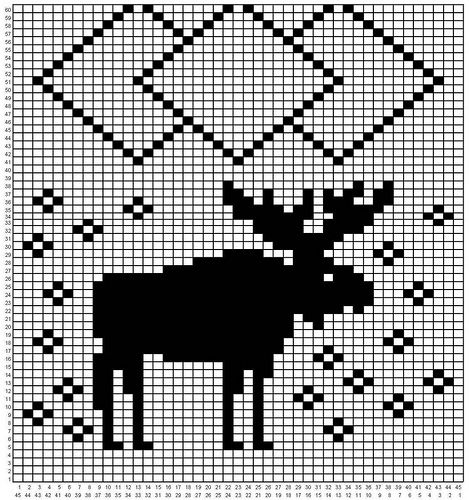 Moose scarf pattern | Flickr - Photo Sharing!