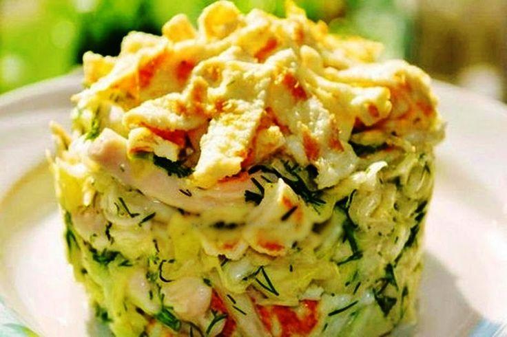 Салат с яичными блинчиками Рецепт простого, но идеального салата с яичными блинчиками, вкуснятина по-настоящему. Рецепт салата здесь>>>https://goo.gl/vO... - Yan Kuptsov - Google+