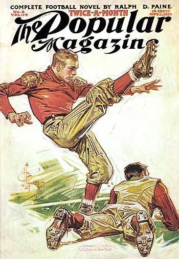 J. C. Leyendecker - The Popular Magazine cover (1909)