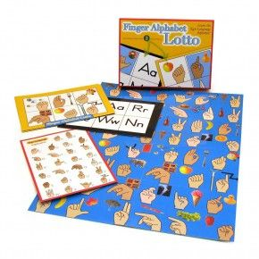 Finger Alphabet Lotto Sign Language Childrens Board Games and Toys Hearing Loss, Deaf, Sign Language Products - Alarm Clocks for Deaf, Products for Hard of Hearing