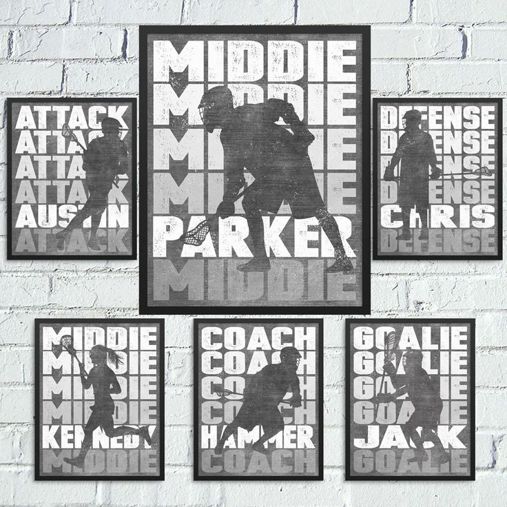 LACROSSE Position Artwork - Personalized Artwork for your Attackman, Defenseman, Goalie, Middie or Coach Boys and Girls Lacrosse Available by ShaunaSmithDesigns on Etsy