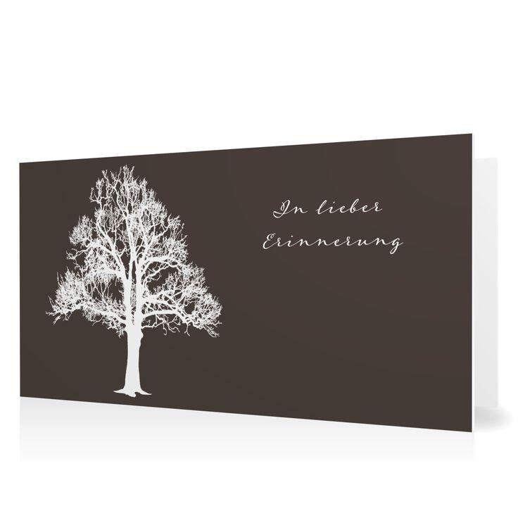 Trauerkarte Lebensbaum in Schamott - Klappkarte flach lang #Trauer #Trauerkarten #elegant https://www.goldbek.de/trauer/trauerkarten/trauerkarte-lebensbaum?color=schamott&design=a2efa&utm_campaign=autoproducts