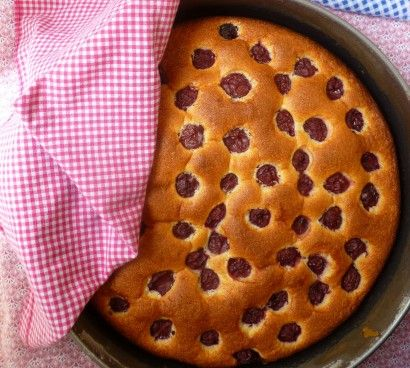 Sour Cherry Cake is made from a swift little recipe that will give you a fine result the first time—and every time, unless one bakes with such winged speed that the batter goes in the oven without adding the flour. Even then the mistake may be undone on a second try with remarkable ease. It is a seriously delicious cake.