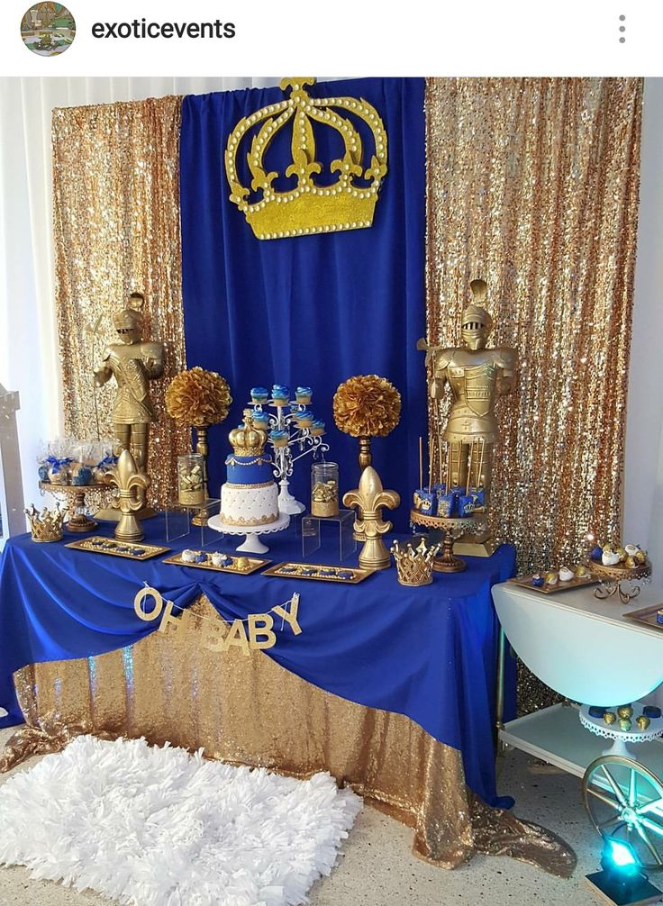 Royal Prince Baby Shower Dessert Table