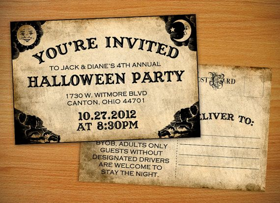 halloween invitations | Halloween Party Invitation Ouija ...