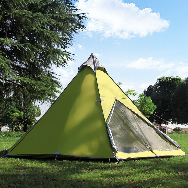 Hewolf 5-8 Persons Waterproof Mongolian Yurt Tent for Lovers and Family's Outdoor Trip Green 380*340*200cm / 149*134*79 Inches -- Find out more details by clicking the image : Hiking tents