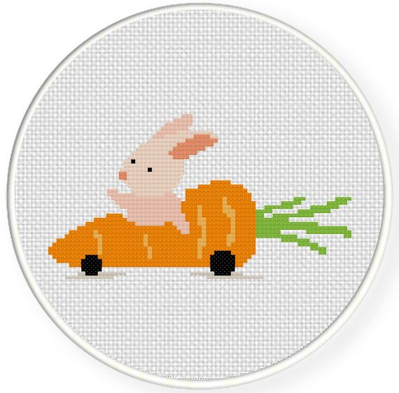 FREE for Jan 12th 2015 Only - My Carrot Car Cross Stitch Pattern