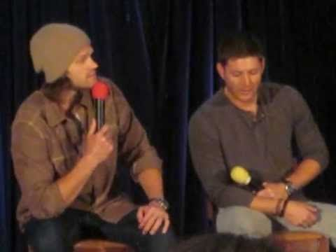 Jensen and Jared trying to make Misha Laugh- I think this is my favorite interview story