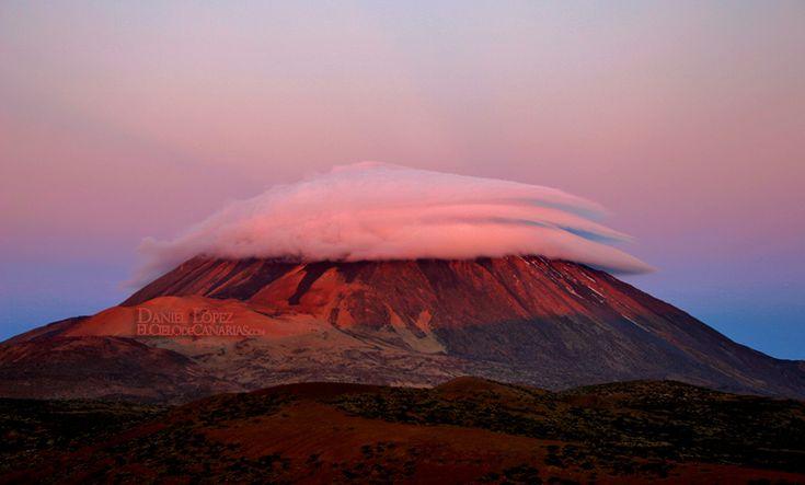 El Cielo de Canarias » Triple gorro en el Teide amaneciendo