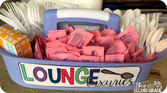 Treat the Teachers, Teacher Gift Basket, Teacher's Lounge, Free Labels                                                                                                                                                     More