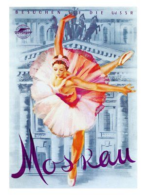 Moscow Ballet, Russian Poster 1959