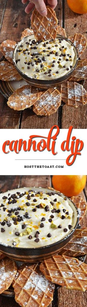 Cannoli Dip!  This guilt free recipe is delicious and NO ONE can believe that it's lightened up! | hostthetoast.com