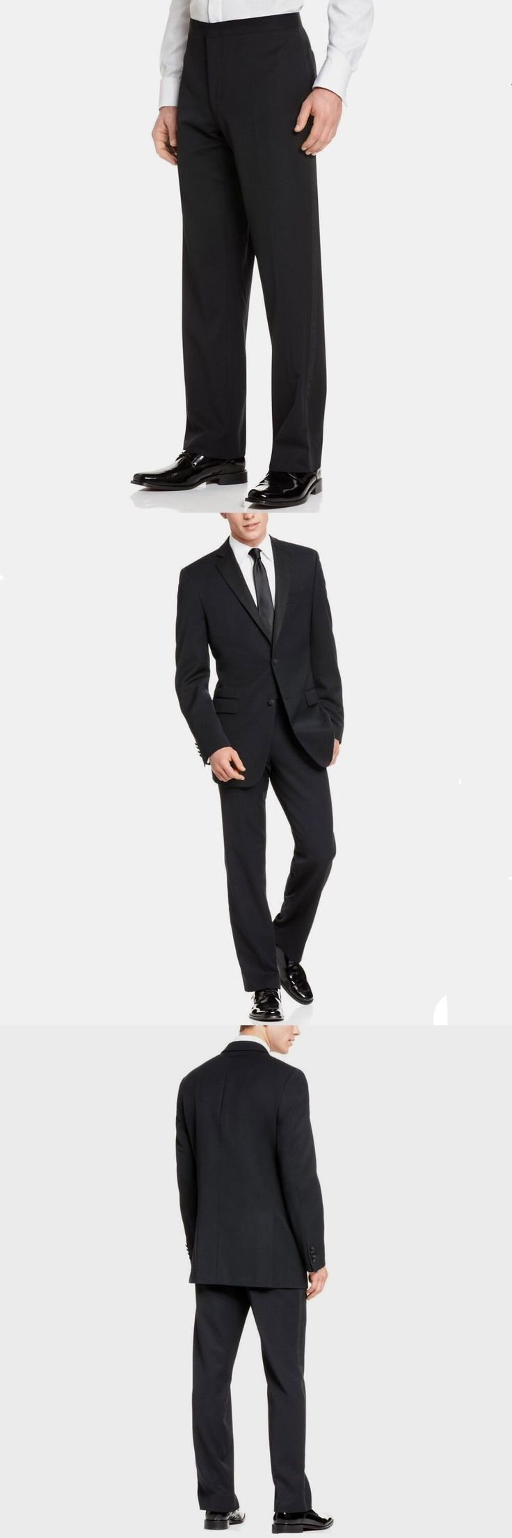 new suit Slim Fit Tuxedo Groom Handsome Tuxedos Wedding Suits For Man Two Buttons Royal black Celebrity Groom Suit (jacket+pant)