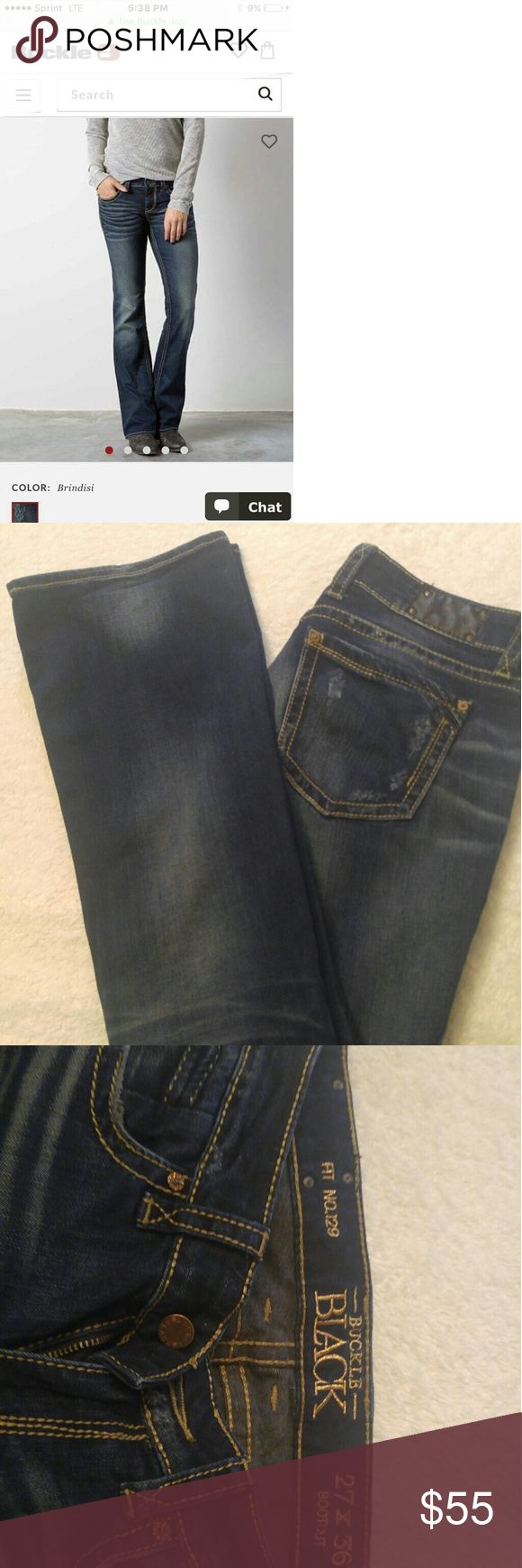 BKE womens bootcut jeans Dark rinse, seriously just like brand new. They are too long for me. Rare problem but these are awesome jeans. Very flattering. Perfect condition. Dark rinse. 27w 36inseam BKE Jeans Boot Cut