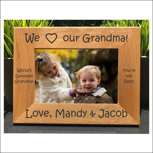 I Love my Grandma // Personalized Engraved Photo Frame // Picture Frame / Grandmother // Gift