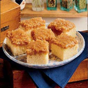Lazy Daisy Cake! The frosting sounds delicious... Brown sugar, butter, half-and-half & coconut!