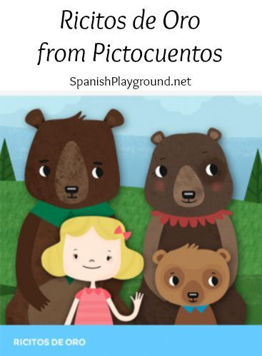 Spanish story for kids teaches house vocabulary, household objects and size words in Spanish. Ricitos de oro, is Goldilocks and The Three Bears. This version is told with pictograms and audio. Excellent for Spanish learners.