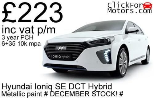 Hyundai-Ioniq-1-6GDI-SE-DCT-Hybrid-223-inc-vat-p-m-Personal-contract-hire