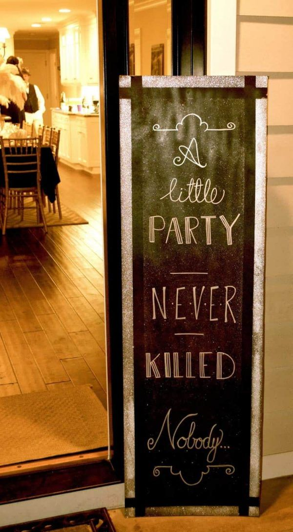 15+ Spaß und Phantasie Große Gatsby Party Decor Ideas