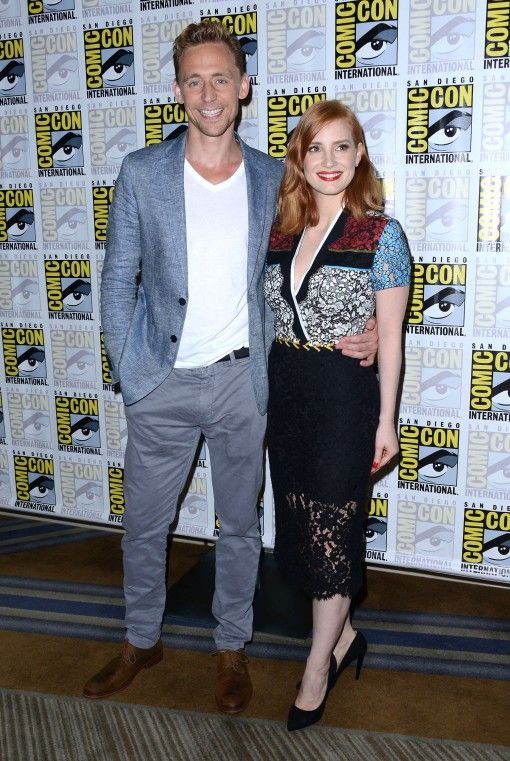 Tom Hiddleton and Jessica Chastain