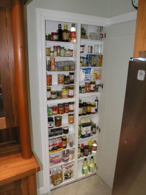 Pantry built in between wall studs With instructions too