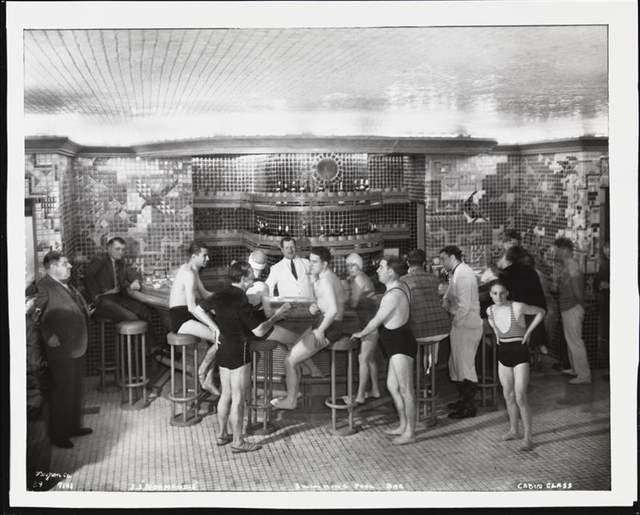 SS Normandie Pool Bar