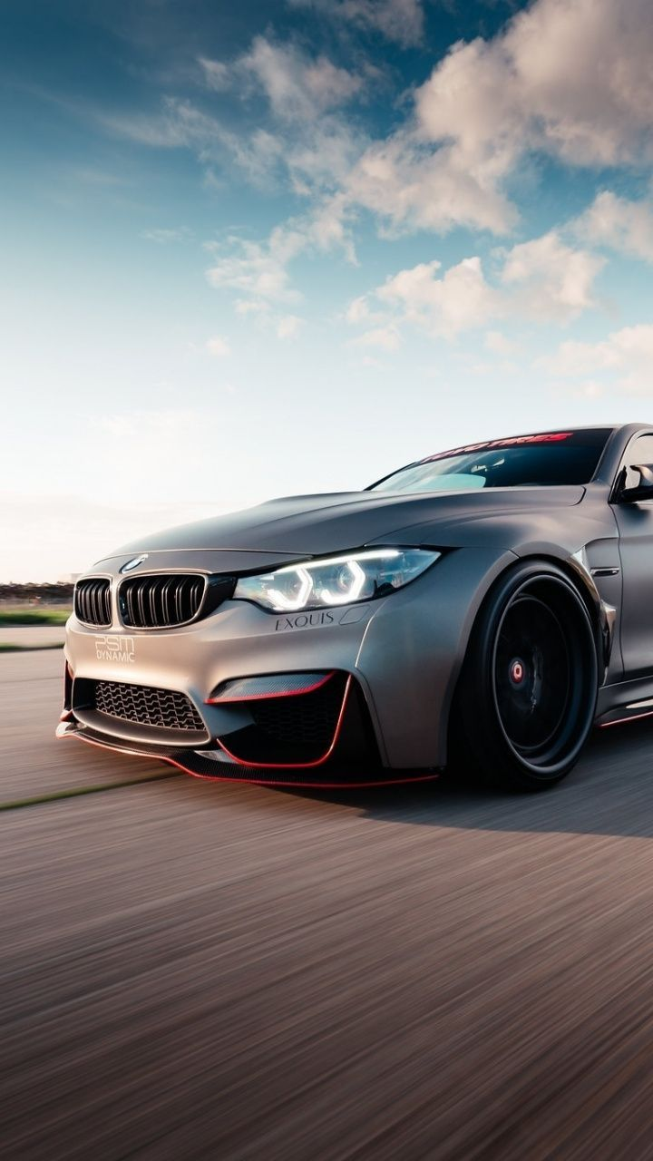 Awesome Wallpaper 720 1280 Bmw M4 On Road Luxurious Car