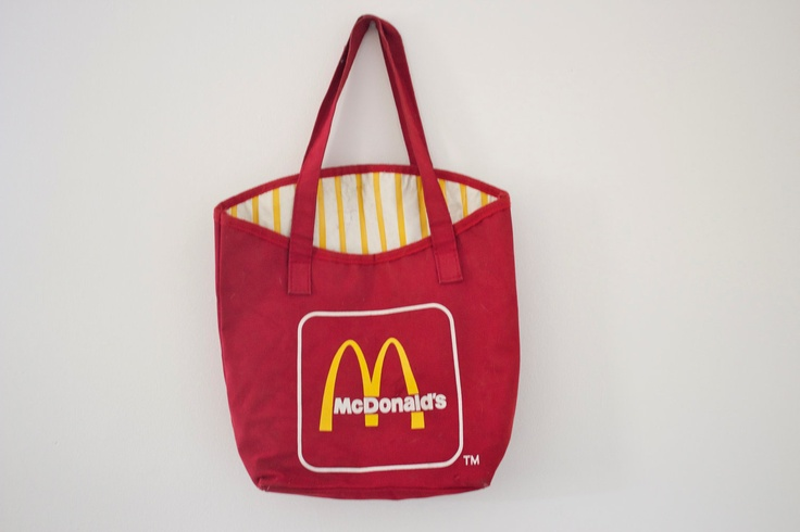 The perfect tote for a Hamburglar costume. #Halloween