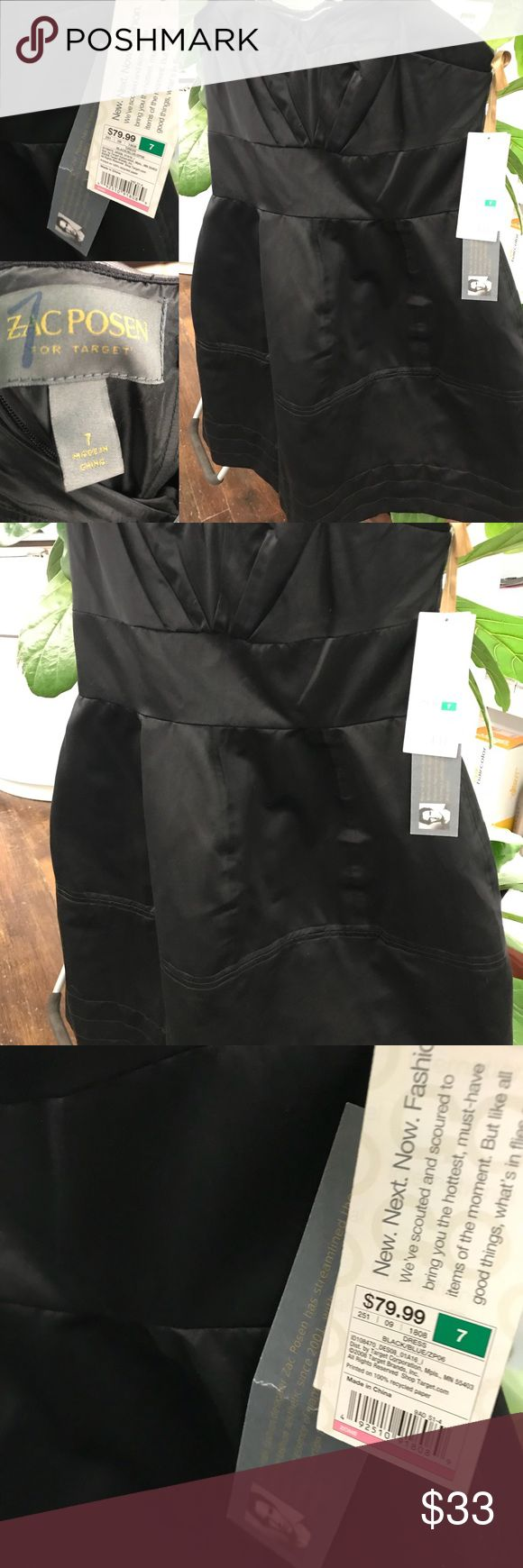 Black Zac Posen for Target dress Siper cute tulip shape dress . Great for New Year's Eve or date night . Got it on PM but it's too small for me.  Size 7. Zac Posen for Target Dresses Mini