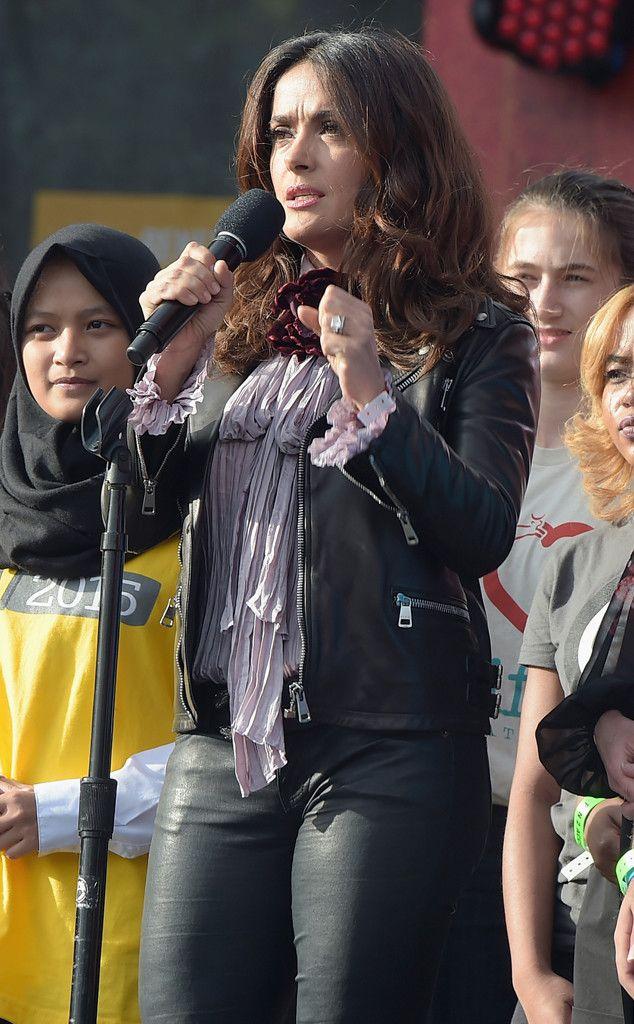 Salma Hayek from 2015 Global Citizens Festival: Star Sightings   E! Online