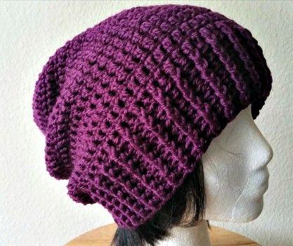 slouchy crochet hat free pattern