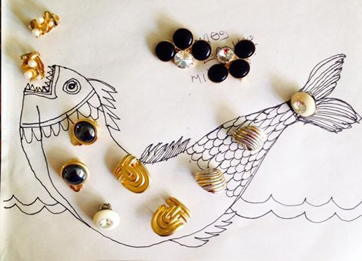 Fishing earrings!