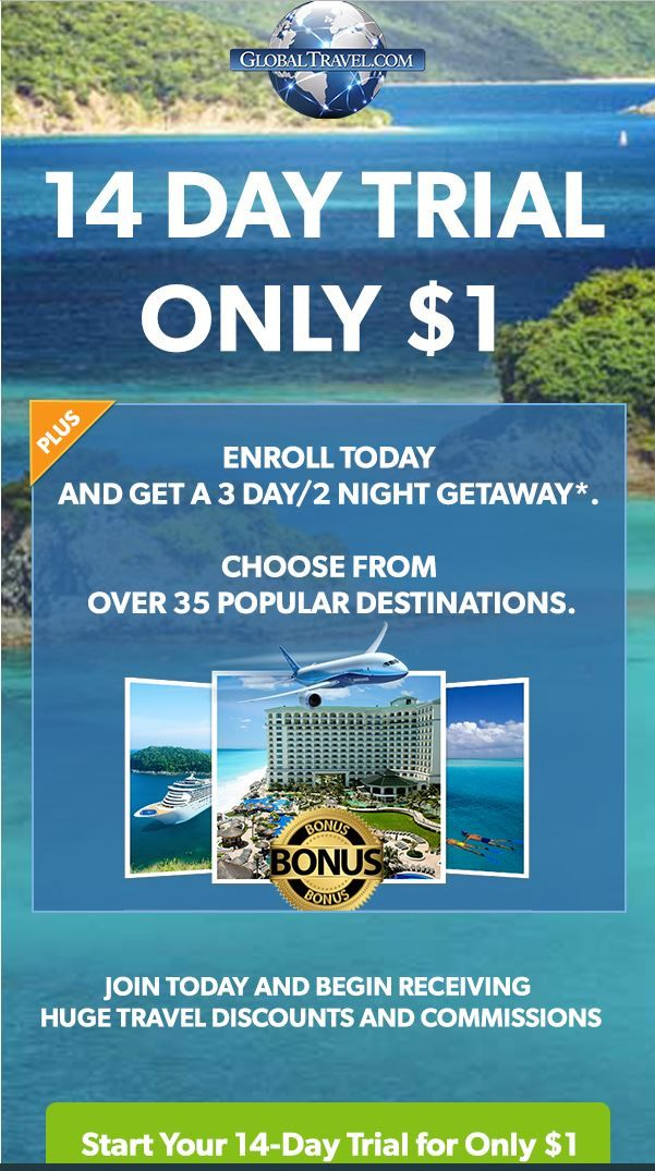 Get Travel Discounts 14 Day Trial For 1 The Penny Pinching Lady Discount Travel Travel Global Travel
