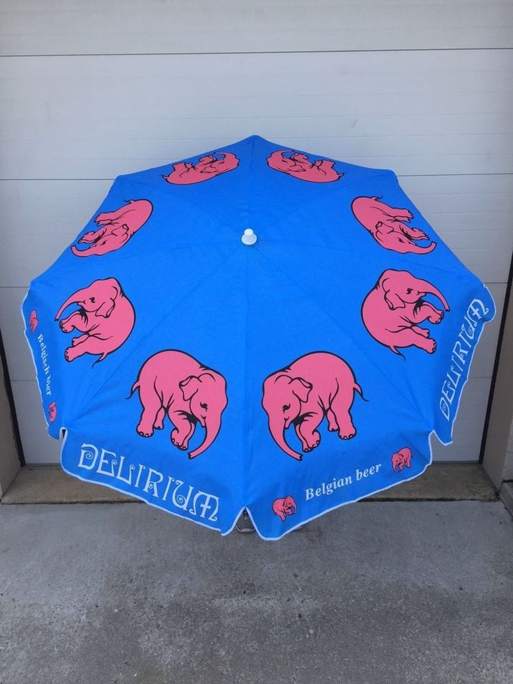 Delirium Tremens Belgian Beer Beach Umbrella ~ NEW & Free Shipping ~ 6' Wide | eBay