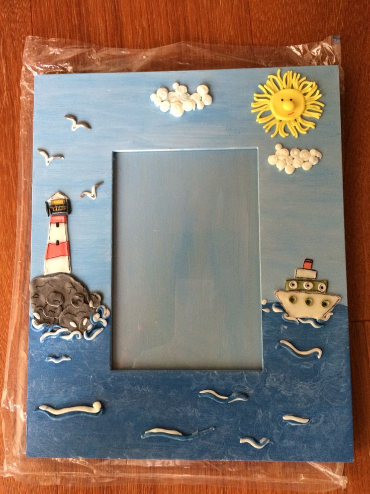 Cornice decorata in pasta di mais Photo Frame